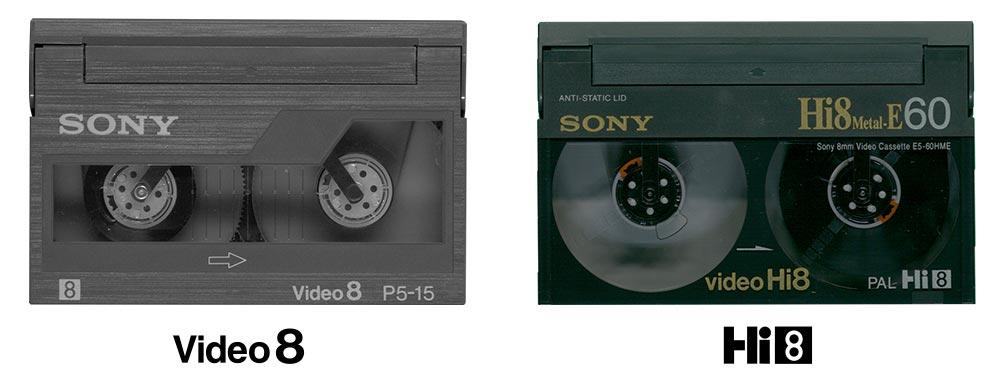 Unterschied zwischen Video 8 und Hi8